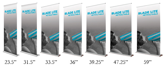 Retractable Banner Stands, The Blade Lineup